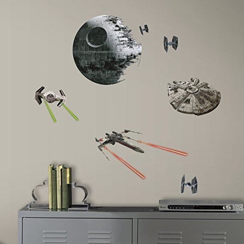 RoomMates RMK3012SCS Star Wars EP VII Spaceships P&S Wall De