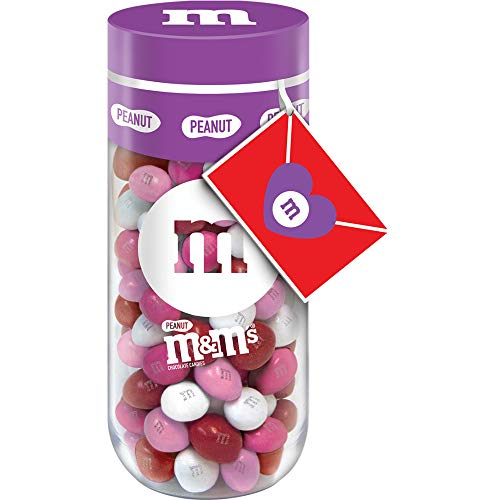 M&M'S Peanut Chocolate Valentine's Day Candy Gift 11-Ounce Jar (6 Pack)