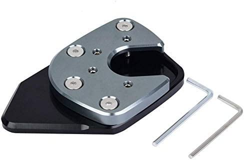 Broco Stützplatte Fuß Seitenständer Vergrößern Extension Pad Motorradständer Seitenständer Extension Foot Pad Stützplatte Für H Onda Nc750x X Adv 17 19 Grau Auto