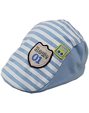 Baby Toddler Peaked Cap Flat Baseball Hat Stripe Design Beret Cap