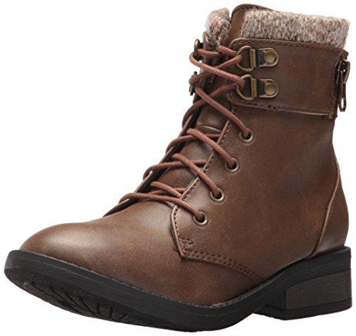 Steve Madden Girls' Jridges Fashion Boot, Brown, 2 M US Little Kid