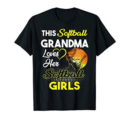 (This Softball Grandma Loves Her Softball Girls Shirt)