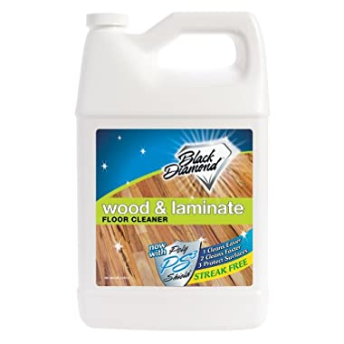 Black Diamond Wood & Laminate Floor Cleaner 1-Gallon: For Hardwood, Real, Natural & Engineered Flooring –Biodegradable Safe for Cleaning All Floors