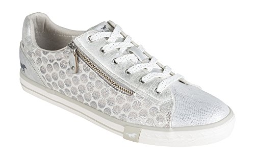 Mustang Ivory Trainers Women's 1146 Silver 312 243 RZOUw