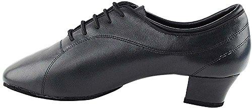 Chaussures De Danse De Salon De Tango Hommes Chaussures De Danse Latine Salsa De Mariage Cd9316eb - Très Fine 1.5 [paquet De 5] Cuir Noir