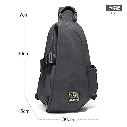 Brassiere Slant Bag Leisure Single Shoulder Bag Fashion Men's Bag, Tuba ()