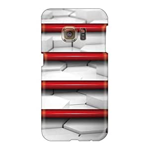 JohnPrimeauMaurice Samsung Galaxy S6 Protector Hard Phone Covers Support Personal Customs Lifelike Red Shelf Skin [EsH27857TyVq]