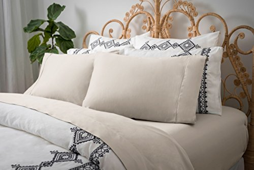 - Magnolia Organics Dream Collection Sheet Set - Queen, Natural