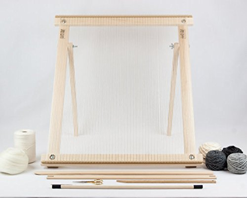 Beka FRAME LOOM WITH STAND WEAVING KIT - GRAY - THE DELUXE!