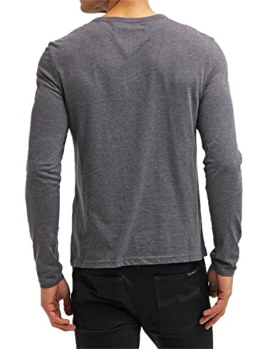 3 Uomo long Sleeve AiyinoT Gray dark shirt y8nmONw0v