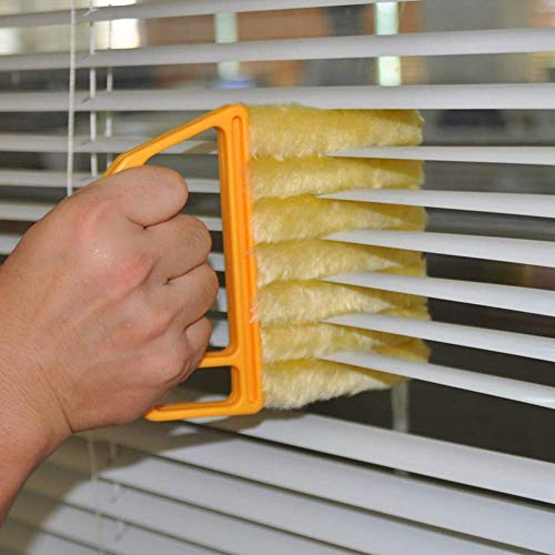 Cleaning Brush - Useful Microfiber Window Cleaning Brush Air Conditioner Duster Cleaner With Washable Venetian Blind - Attachment Window Head Cleaning Brush -