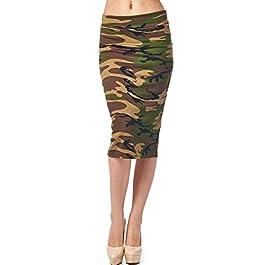 82 Days Women's Ponte Roma Printed Regular to Plus Below Knee Pencil Skirt – Print