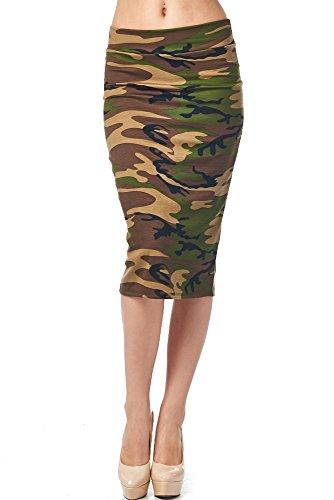 82 Days WomenS Ponte Roma Printed Regular To Plus Below Knee Pencil Skirt - Print