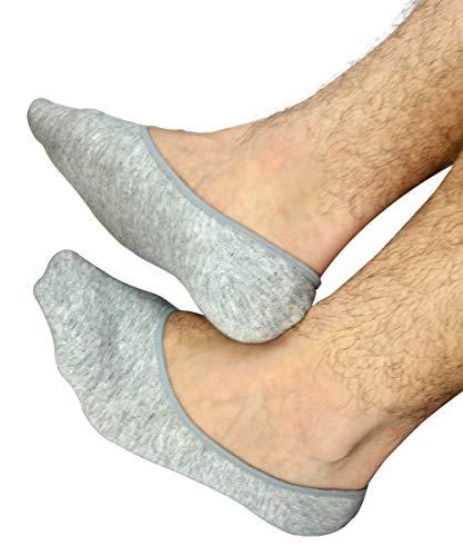 No Show Socks For Men 3pk Quality Cotton Lge Heel Grip Non S