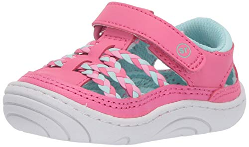 Stride Rite Amari Girl's Athletic Fisherman Sandal, pink, 5 M US Toddler