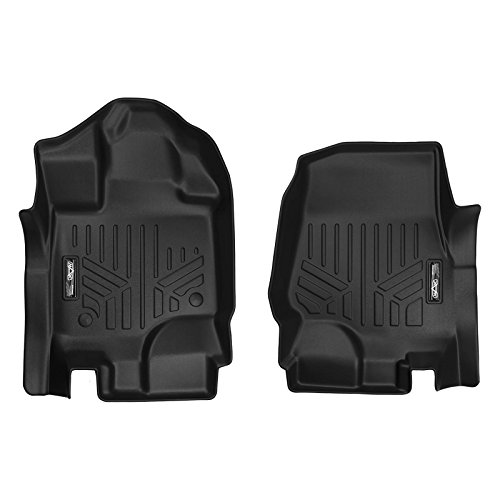 SMARTLINER Custom Fit Floor Mats 1st Row Liner Set Black for 2015-2019 Ford F-150 SuperCab or SuperCrew Cab