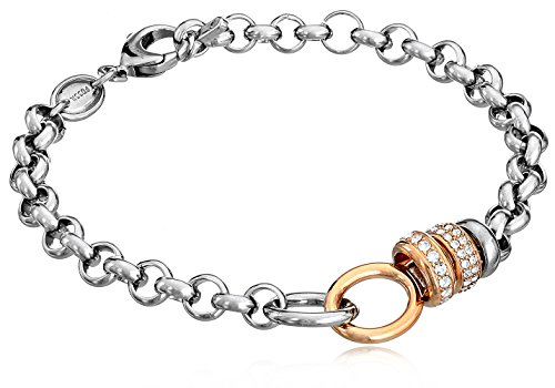 """UPC 796483136304, Fossil Rondel Link Bracelet, 7.5"""""""
