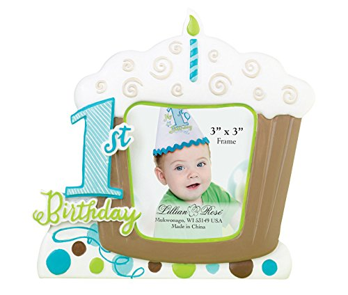 Lillian Rose 1st Birthday Picture Frame, Blue, ()