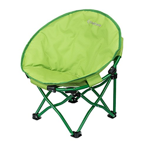 - KingCamp Moon Saucer Chair Cute Round Mini Size Ultralight Portable Compact Folding with Safe Lock for Camping Picnic Outdoor with Carry Bag