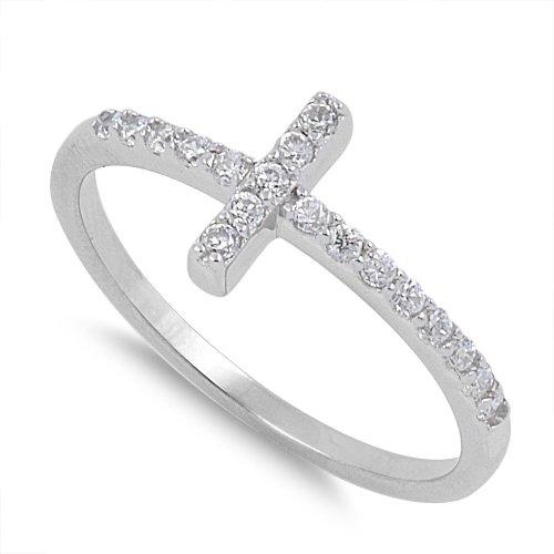 Silver 4 Side Diamond - 1