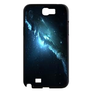Samsung Galaxy Note 2 Case Atlantis Nebula 3 Dual Monitor, [Black]