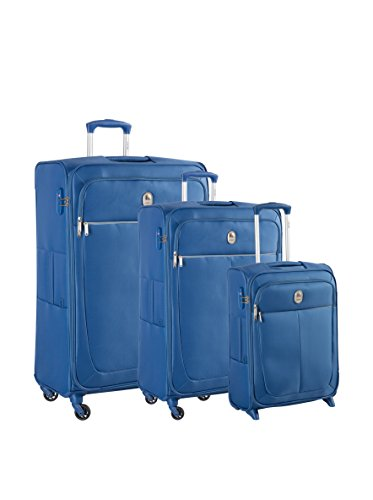 Delsey Set Di 3 trolleys Materassini Caleo Soft: Blu Chiaro