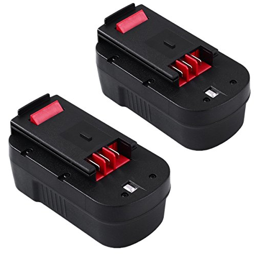 ENERMALL 2Packs 3.0Ah Ni-Mh Replace for Black and Decker 18V Battery HPB18 HPB18-OPE 244760-00 A1718 FS18FL FSB18 Firestorm Cordless Power Tools