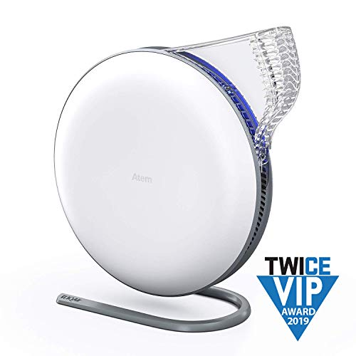 IQAir [Atem Desk Personal Air Purifier [HyperHEPA Filter] Allergies, Pets, Asthma, Pollen, Dust; Swiss Made (White) (Iq Air Purifier)