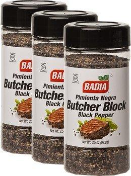 Badia Pepper Black Butcher Block 3.5 oz Pack of 3