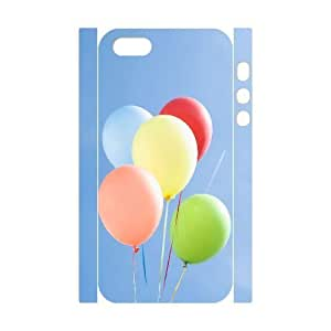 3D Bumper Plastic Customized Case Of Balloon for iPhone 5,5S