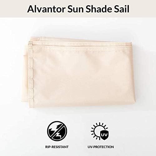 Alvantor Sun Shade Sail Canopy Covers UV Block for Outdoor Backyard Screen House Winter Gazebo 38 x50 x57 , Pack of 3