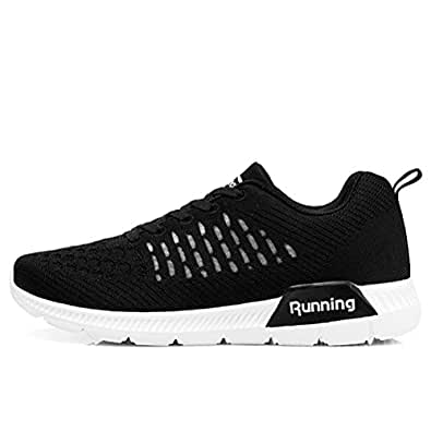 ONEKE Running Shoes Sneakers for Women Womens Fashion Sports Outdoor Athletic Shoes Trainer Shoe (US 5.5 B(M), Black)