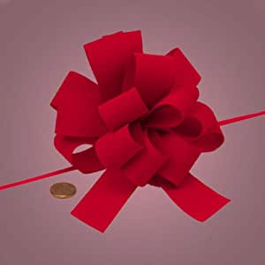 Amazon Com Red Velvet Gift Bow 5 Quot Arts Crafts Amp Sewing