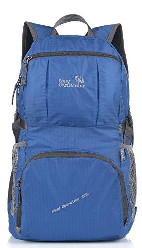Price comparison product image Outlander Large Packable Handy Lightweight Travel Backpack Daypack, Dark Blue