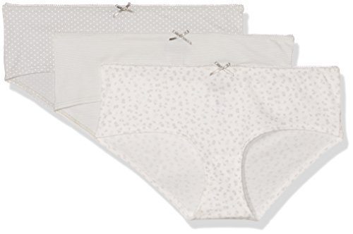 Marc O'Polo Body & Beach, Culotte para Mujer (lot de 3) Grau (Hellgrau 204)
