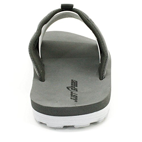 Cushion gray Speed D amp; Flops Men's Slides Sandals � Just gray Outsole Footbed Flexible Flip aOq0H