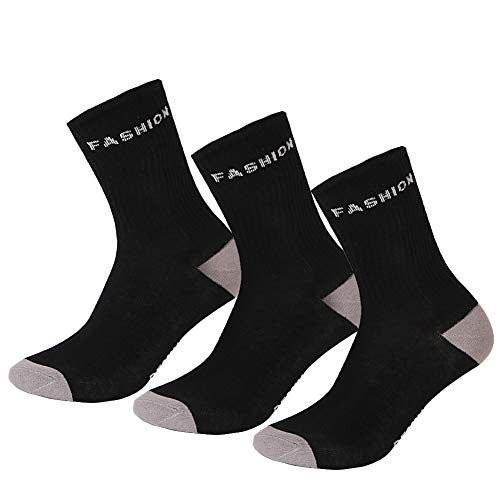 - Dafmy Cozy Combed Cotton Mens Socks. Athletic Casual Socks.(3 Pack).Size 8-15