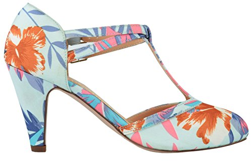 Chase & Chloe Womens Mary Jane T-Strap Round Toe Pump Floral Ey3sszHL