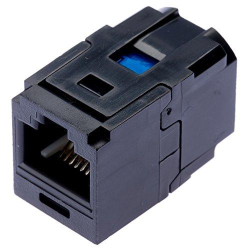 Juice Box Module (Panduit CC5E88BL Category-5E 1-Port 8-Position 8-Wire Connector Universal Coupler Module, Black)