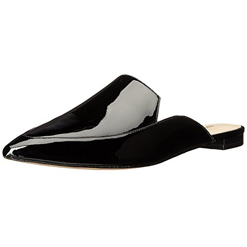 Patent Slides Loafers Mule Slippers Toe Mavirs Mule Loafers Shoes Pointed Backless Black On Womens Slip 8I6Iwpx