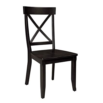 Home Styles 5178 802 Dining Chairs, Black Finish, Set Of 2