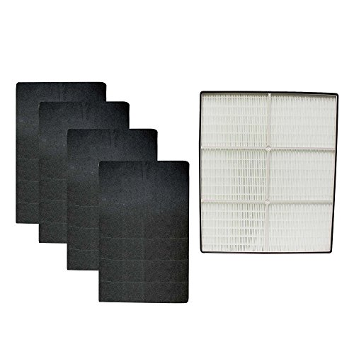 Think Crucial Replacement for Whirlpool HEPA Style Air Purifier Filter & 4 Carbon Pre Filters Fit Whispure AP350