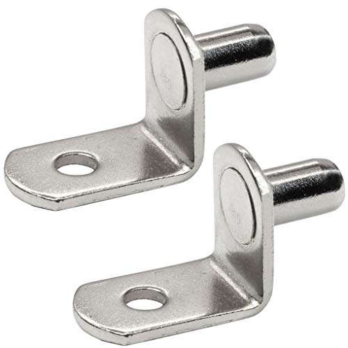 Wolfride 50 Pcs 6mm Bracket Style Cabinet Shelf Support Pegs -