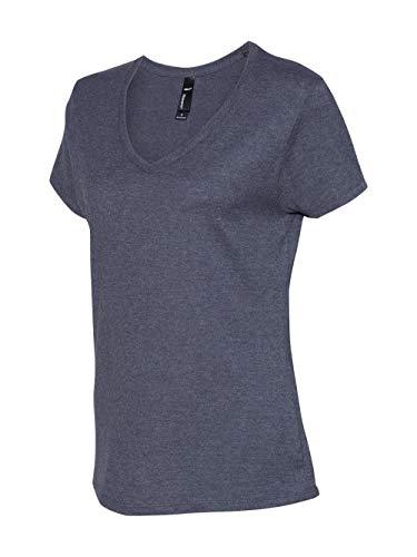 Hanes - Nano-T Women's V-Neck T-Shirt - S04V - L - Charcoal Heather
