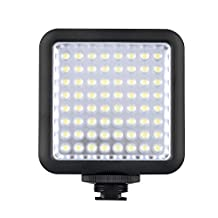 Godox LED 64 Continuous On Camera LED Panel light,Portable Dimmable Camera Camcorder Led Panel Video Lighting for DSLR Camera Conon,Nikon,Sony,Panasonic,Olypus,Fuji etc,Neewer Godox Led lighting