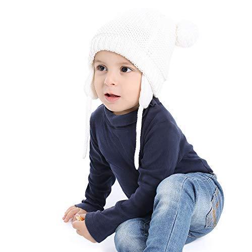 8772f7f67aa7 XIAOHAWANG Baby Hat Cute Bear Toddler Earflap Beanie Warm for Fall Winter