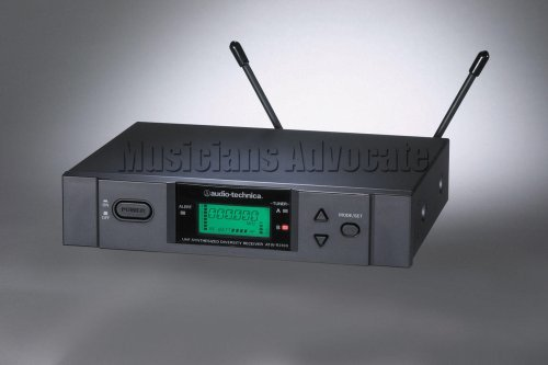 Audio-Technica ATW-R3100bD Frequency-Agile Diversity UHF Receiver - Band D (655.500 - 680.375 MHz) by Audio-Technica