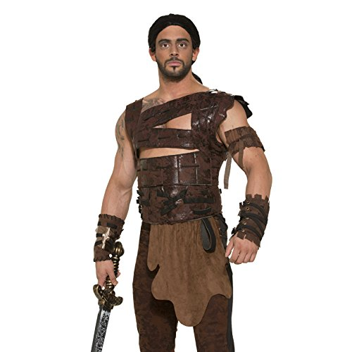 (Forum Novelties Faux Leather Armor and Belt Costume Accessory - Standard - Chest Size up to)
