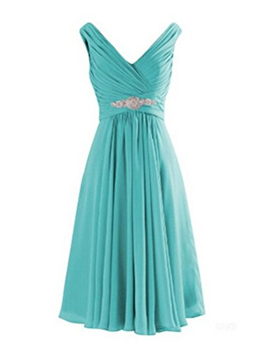ice blue bridesmaids dresses - 1