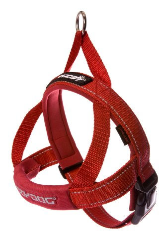 EzyDog Quick Fit Harness, Large, Red, My Pet Supplies